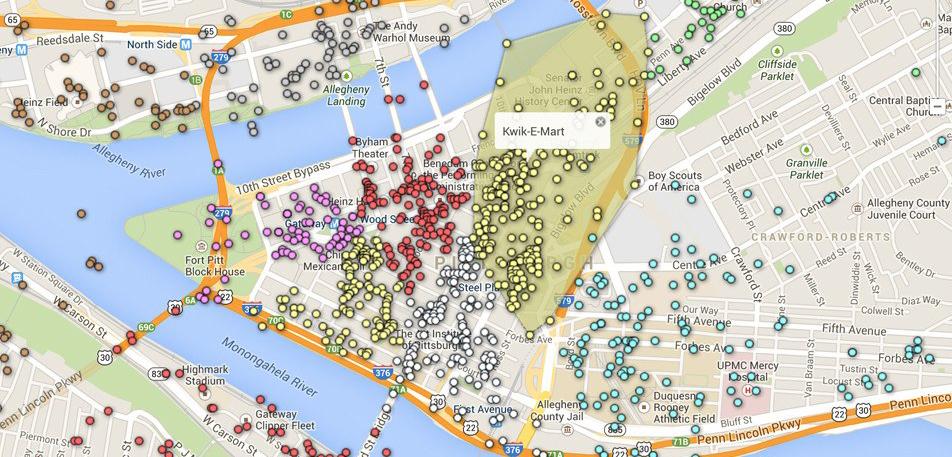 Исследовать город